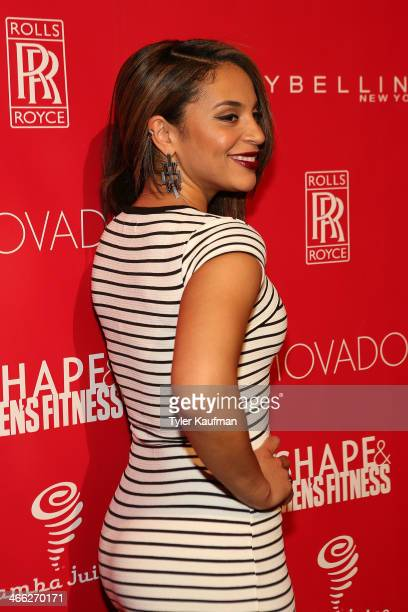 Erica Dickerson attends the 2014 Shape Men's Fitness Super Bowl Party at Cipriani 42nd Street on January 31 2014 in New York City