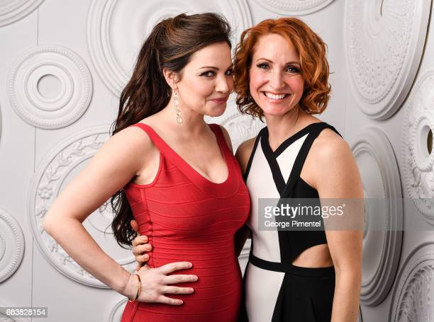 Erica Durance and Michelle Nolden pose in the ETalk Portrait Studio at the 2017 Canadian Screen Awards at the Sony Centre For Performing Arts on...