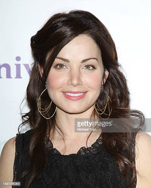 Erica Durance arrives at the 2012 NBC Universal Summer press day hled at The Langham Huntington Hotel and Spa on April 18 2012 in Pasadena California