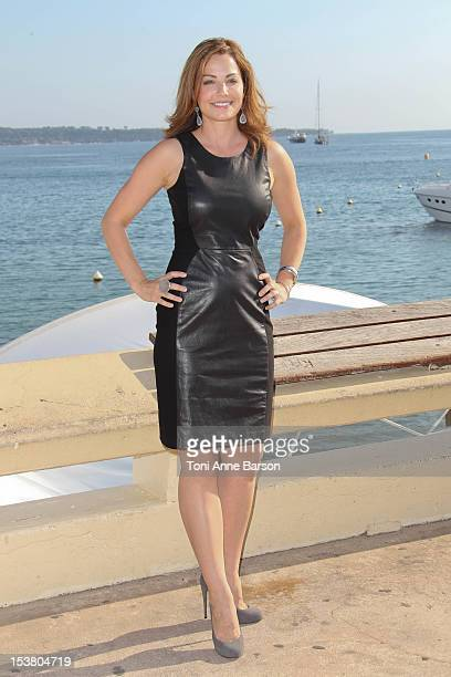 Erica Durance attends 'Saving Hope' Photocall as part of MIPCOM 2012 at Hotel Majestic on October 8 2012 in Cannes France
