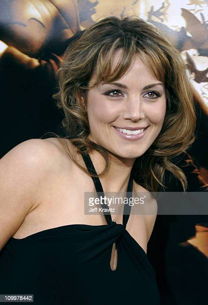 Erica Durance during Batman Begins Los Angeles Premiere Arrivals at Grauman's Chinese Theater in Hollywood California United States