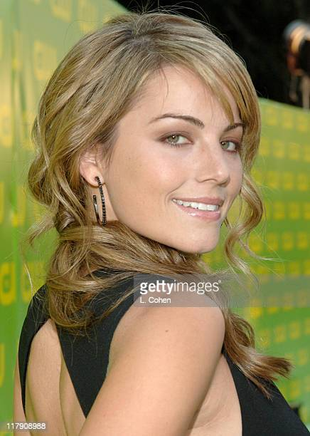Erica Durance during The CW Launch Party Green Carpet at WB Main Lot in Burbank California United States