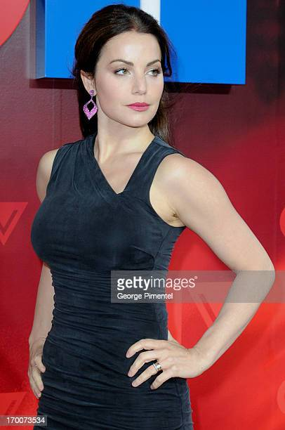 Erica Durance from 'Saving Hope' attends CTV Upfront 2013 Presentation at Sony Centre For Performing Arts on June 6 2013 in Toronto Canada