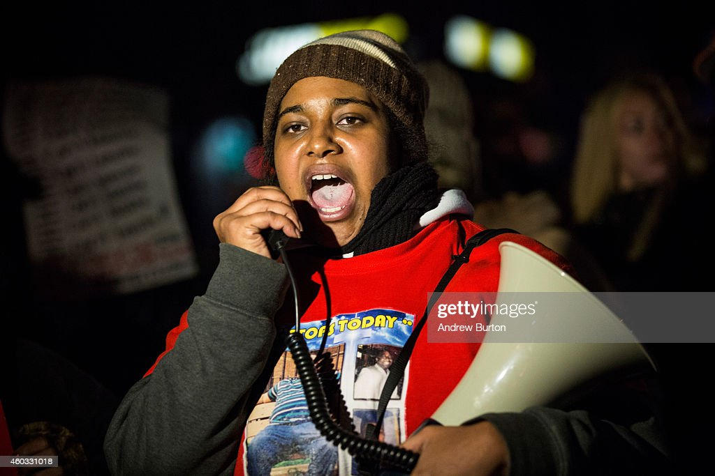Daughter Of Eric Garner Leads Protest March In Staten Island : News Photo