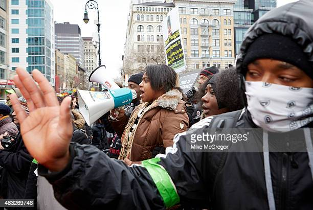 Erica Garner daughter of Eric Garner NYC chokehold victim is photographed for The Observer Magazine on January 19 2015 in New York City Photographed...