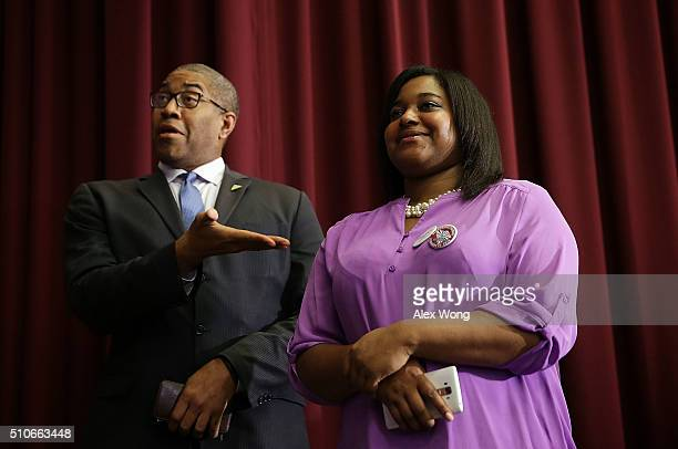 Erica Garner daughter of Eric Garner who died after being put in a chokehold by NYPD officers campaigns for Democratic presidential candidate Sen...