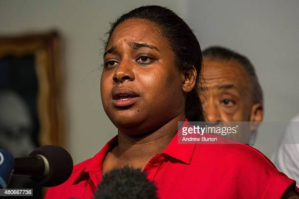 Erica Garner Eric Garner's daughter attends a press conference held with her familiy members and the Reverand Al Sharpton calling for further justice...