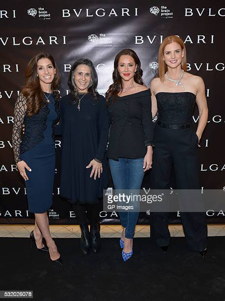 Erica Godfrey Pascale Girardin Jessica Mulroney and Sarah Rafferty attend the Bulgari Intimate and Exclusive Sneak Peak Of The Brain Project at...