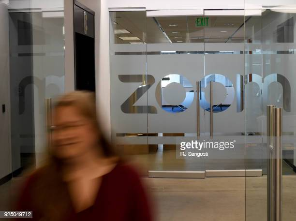 Erica Gray talent acquisition manager at Zoom Video Communications walks through the front door of the Zoom office on February 27 2018 in Denver...
