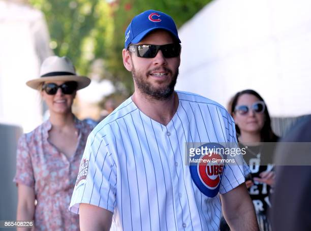 Erica Hanson and Ike Barinholtz at the GOOD Foundation's 2nd Annual Halloween Bash at Culver Studios on October 22 2017 in Culver City California