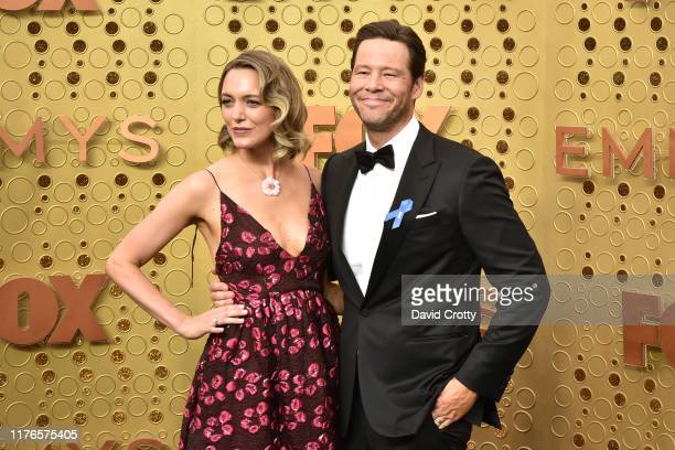 Erica Hanson and Ike Barinholtz attend the 71st Emmy Awards at Microsoft Theater on September 22 2019 in Los Angeles California