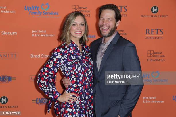 Erica Hanson and Ike Barinholtz attend Uplift Family Services at Hollygrove's Annual Norma Jean Benefit Gala at Hollygrove Campus on October 19 2019...