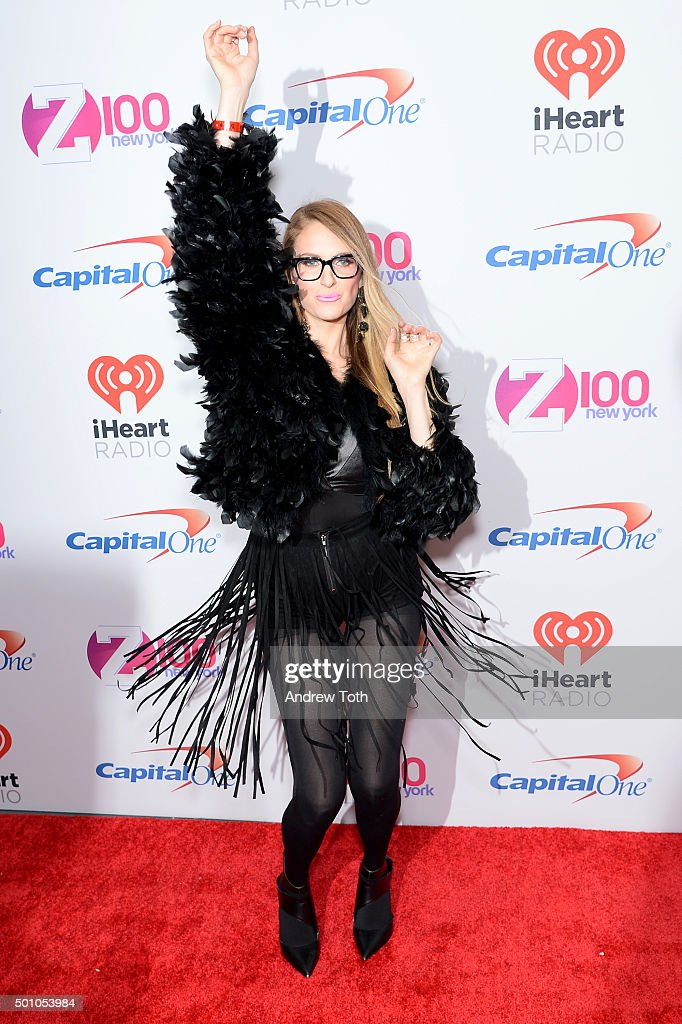 Erica Hayden attends Z100's iHeartRadio Jingle Ball 2015 arrivals at Madison Square Garden on December 11, 2015 in New York City.