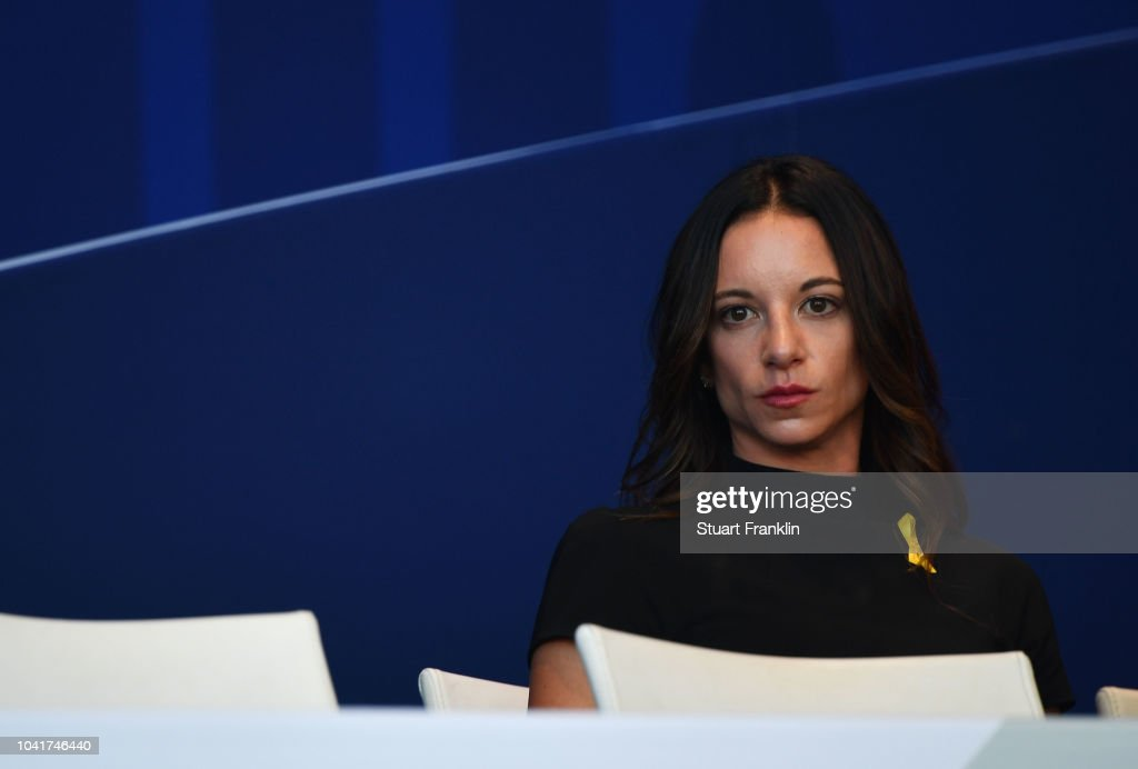 Erica Herman attends during the opening ceremony for the ...