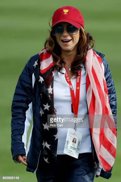 Erica Herman walks during Saturday foursome matches of the Presidents Cup at Liberty National Golf Club on September 30 2017 in Jersey City New Jersey
