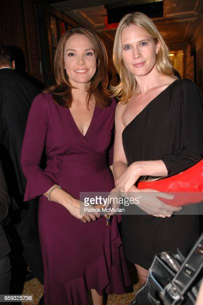 Erica Hill and Stephanie March attend HLN's Joy Behar Show Launch at The Oak Room on September 23, 2009 in New York City.