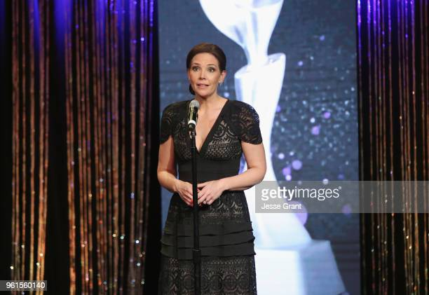 Erica Hill attends the 43rd Annual Gracie Awards at the Beverly Wilshire Four Seasons Hotel on May 22 2018 in Beverly Hills California