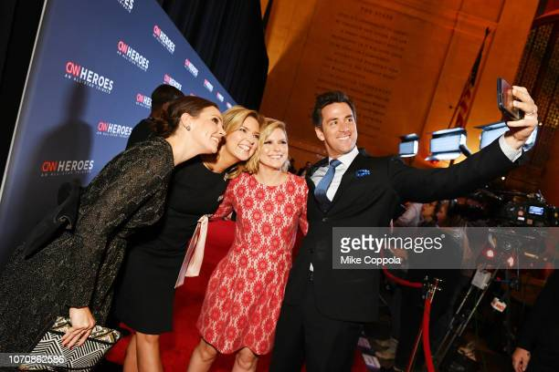 Erica Hill Christine Romans Kate Bolduan and Dave Briggs attend the 12th Annual CNN Heroes An AllStar Tribute at American Museum of Natural History...