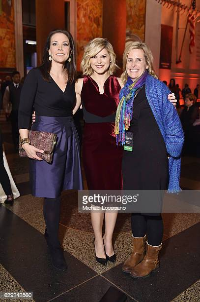 Erica Hill Kate Bolduan and Kate Lunger pose during the CNN Heroes Gala 2016 at the American Museum of Natural History on December 11 2016 in New...