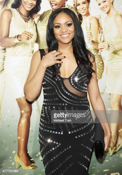 Erica Hubbard arrives at the Los Angeles premiere of Tyler Perry's The Single Moms Club held at ArcLight Cinemas Cinerama Dome on March 10 2014 in...