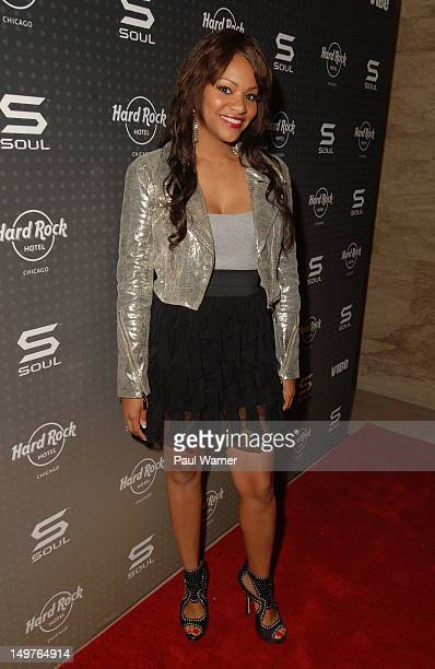Erica Hubbard from the BET television show Let's Stay Together attends the Soul Sounds Chicago kickoff party during Lollapalooza 2012 at Fender...