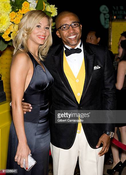 Erica Jones and Executive Vice President of Warner Music Group Kevin Liles attend the 10th annual New Yorkers for Children fall gala at Cipriani 42nd...