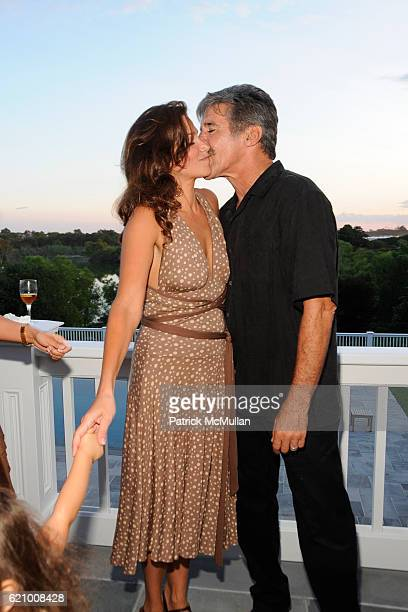 Erica Levy and Geraldo Rivera attend A Taste of the Good Life with BEST LIFE Sunset Cocktail Party at The Villency Residence on August 16 2008 in...