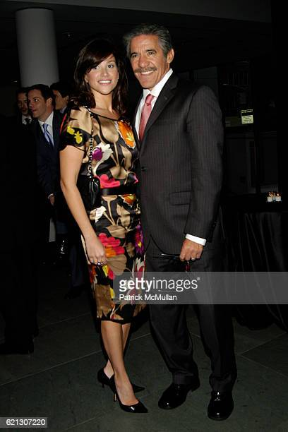 Erica Levy and Geraldo Rivera attend WILLIAM MORRIS AGENCY Hosts a Cocktail Party Celebrating the Network Television Sales Season at The Museum of...