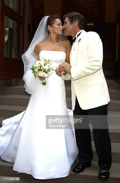Erica Levy and Geraldo Rivera during Geraldo Rivera Weds Erica Levy in New York City on August 10 2003 at Central Synagogue in New York City New York...