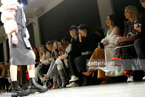 Erica Luo and Olga Ferrara attend the Blancore fashion show during February 2020 New York Fashion Week The Shows at Gallery II at Spring Studios on...
