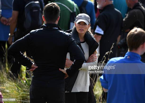 Erica McIlroy looks on during day one of the British Masters at Close House Golf Club on September 28 2017 in Newcastle upon Tyne England