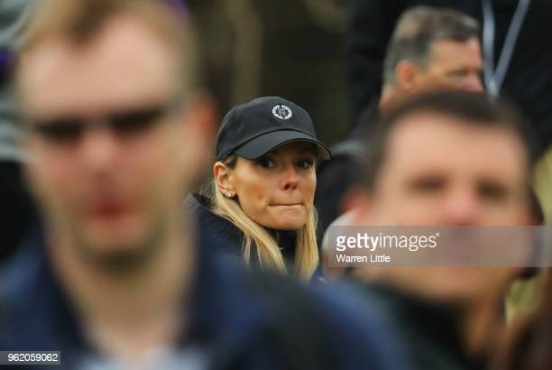 Erica McIlroy wife of Rory McIlroy of Northern Ireland looks on from the crowd during day one of the BMW PGA Championship at Wentworth on May 24 2018...