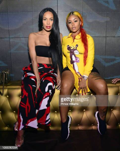Erica Mena and Alexis Skyy attend a Block Party at Club Opera on September 1 2018 in Atlanta Georgia