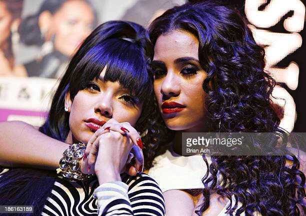 Erica Mena and Cyn Santana appear at the VH1 Love Hip Hop Season 4 Premiere at Stage 48 on October 28 2013 in New York City