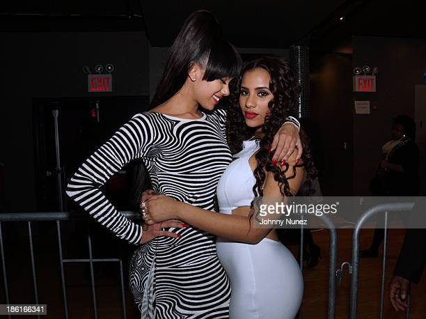 Erica Mena and Cyn Santana attend the Love And Hip Hop Season 4 Launch at Stage 48 on October 28 2013 in New York City