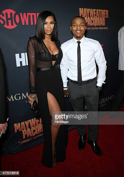 Erica Mena and rapper Bow Wow attend the SHOWTIME And HBO VIP PreFight Party for Mayweather VS Pacquiaoat MGM Grand Hotel Casino at on May 2 2015 in...