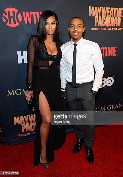 Erica Mena and rapper Shad Shad Moss Moss attends the SHOWTIME And HBO VIP PreFight Party for Mayweather VS Pacquiao at MGM Grand Hotel Casino on May...