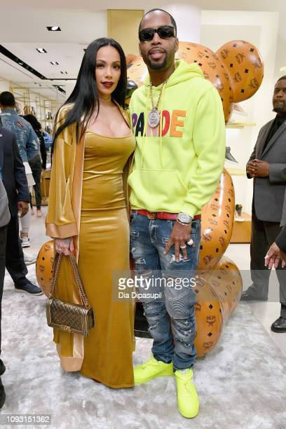 Erica Mena and Safaree Samuels attend MCM x Super Bowl LIII on February 2 2019 in Atlanta Georgia