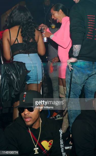 Erica Mena and Shad Moss attend a Party at Allure on April 16 2019 in Atlanta Georgia