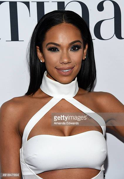 Erica Mena arrives at the Latina 'Hot List' Party hosted by Latina Media Ventures at The London West Hollywood on October 6 2015 in West Hollywood...
