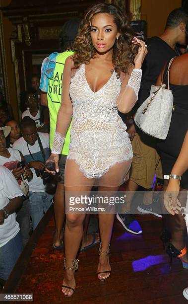 Erica Mena attends Celebrity Block Party for Atlanta Pride at Club Opera on August 30 2014 in Atlanta Georgia