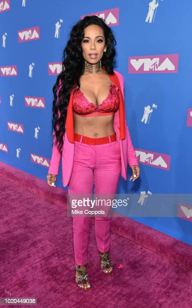 Erica Mena attends the 2018 MTV Video Music Awards at Radio City Music Hall on August 20 2018 in New York City