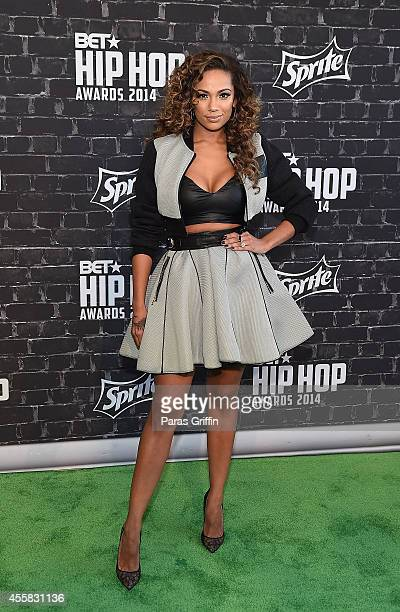 Erica Mena attends the BET Hip Hop Awards 2014 at Boisfeuillet Jones Atlanta Civic Center on September 20 2014 in Atlanta Georgia