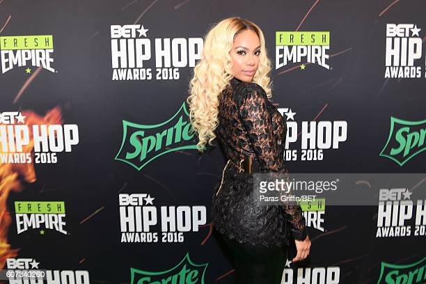 Erica Mena attends the BET Hip Hop Awards 2016 Green Carpet at Cobb Energy Performing Arts Center on September 17 2016 in Atlanta Georgia