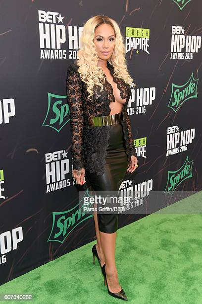 Erica Mena attends the BET Hip Hop Awards 2016 Green Carpet at Cobb Energy Performing Arts Center on September 17, 2016 in Atlanta, Georgia.