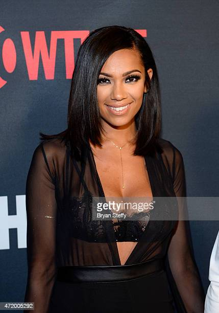 Erica Mena attends the SHOWTIME And HBO VIP PreFight Party for Mayweather VS Pacquiao at MGM Grand Hotel Casino on May 2 2015 in Las Vegas Nevada