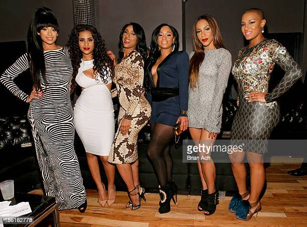 Erica Mena Cyn Santana KMichelle Tahiry Jose Erica Jean and Nya Lee appears at the VH1 Love Hip Hop Season 4 Premiere at Stage 48 on October 28 2013...