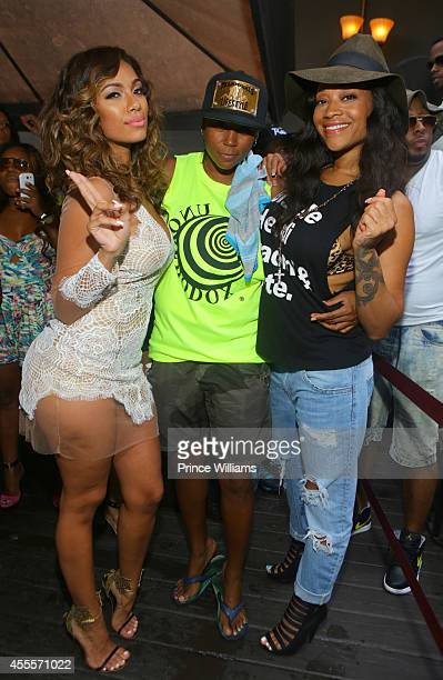 Erica Mena DJ M and Mimi Faust attend Celebrity Block Party for Atlanta Pride at Club Opera on August 30 2014 in Atlanta Georgia