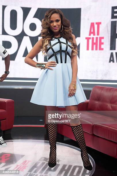 Erica Mena hosts BET's 106 Park at BET studios on October 1 2014 in New York City