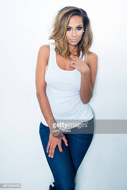 Erica Mena seen behind the scenes at a Fuzion Magazine shoot at John Ricard Studio on March 25 2015 in New York City